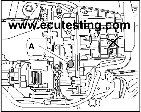 DSG gearbox ECU removal instructions